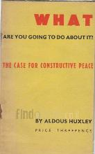 What Are You Going to Do About It? the Case for Constructive Peace