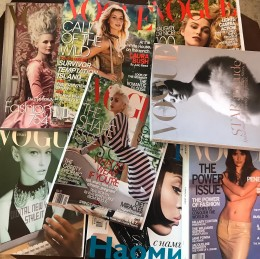 Private Collector's Collection Of 90 Old Fashion Magazines