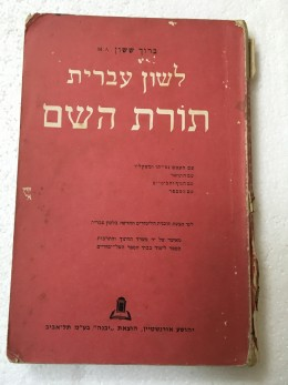לשון עברית תורת השם