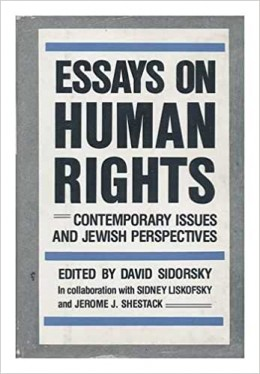 Essays On Human Rights- Contemporary Issues And Kewish Perspectives